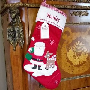 """1204 Pottery Barn Kids """"STANLEY"""" Quilted Stocking"""